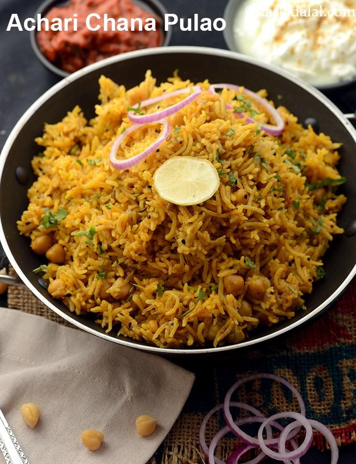 Achari Chana Pulao, Pickled Kabuli Chana Pulao