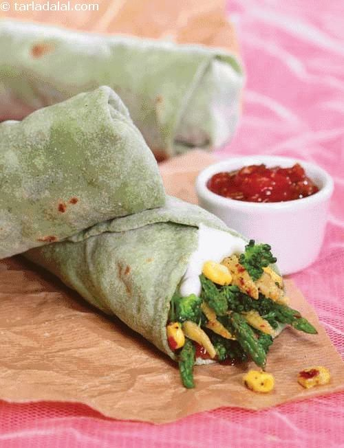 Asparagus and Baby Corn Wrap ( Wraps and Rolls)