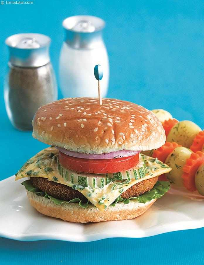 Broccoli Burger ( Burgers and Smoothies Recipe)