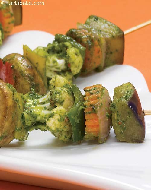 Charmoula Vegetable Satay ( Healthy Starter Recipe )