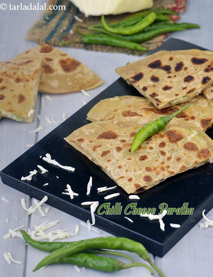 Chilli Cheese Paratha, Veg Breakfast Recipe