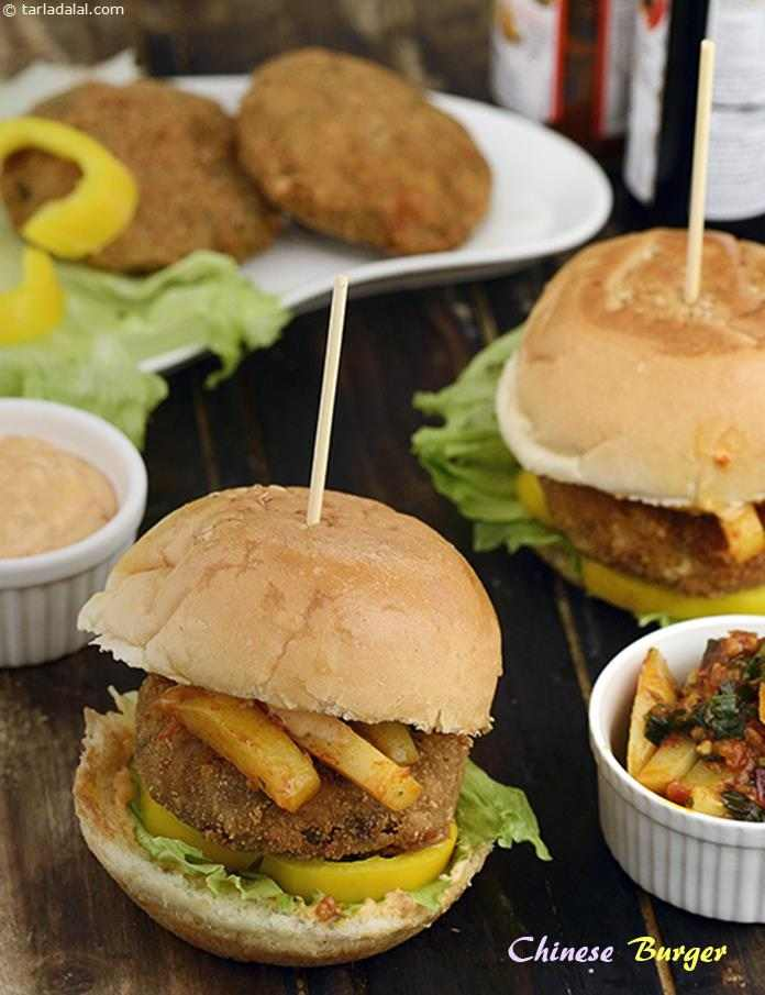 Chinese Burger ( Burgers and Smoothies Recipe)
