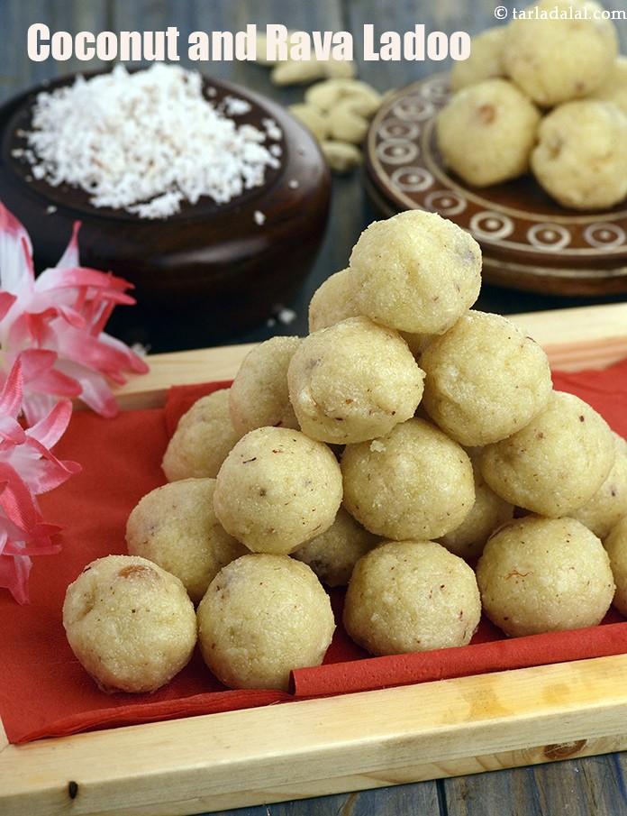 Coconut and Rava Ladoo  ( Laddu)