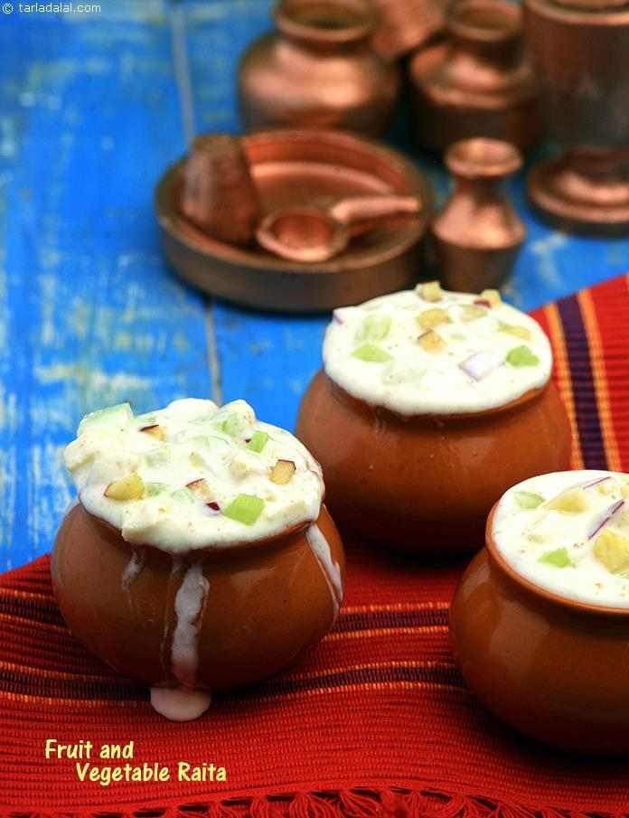 Fruit and Vegetable Raita (  Desi Khana)