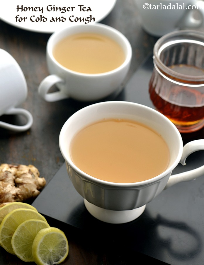 Honey Ginger Tea for Cold and Cough