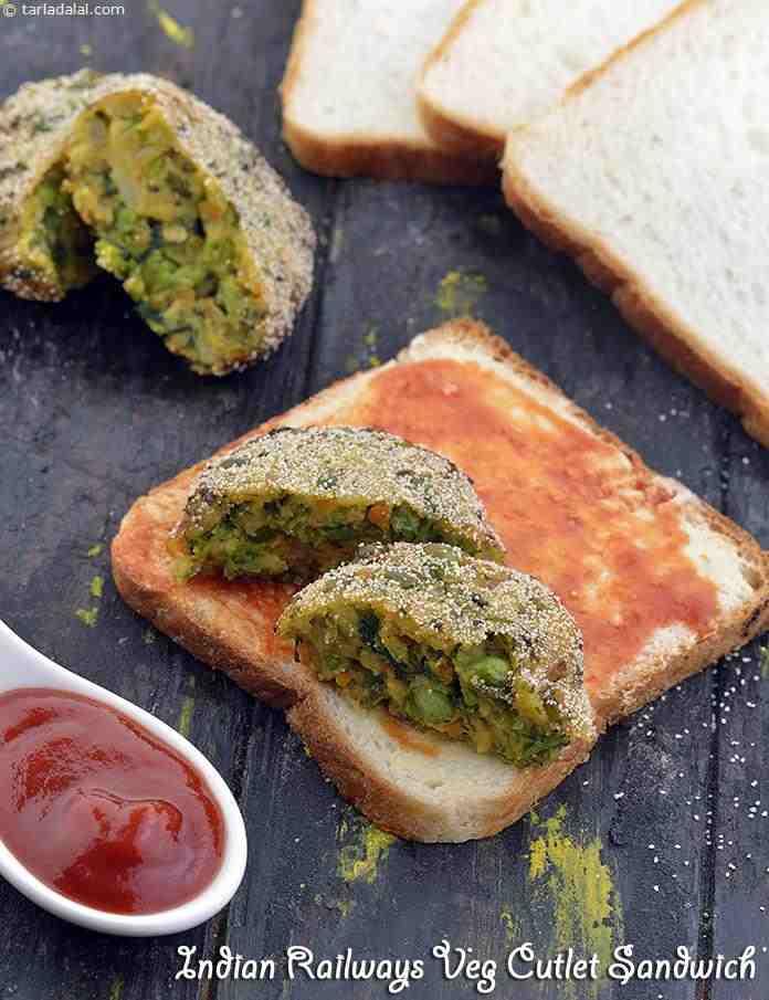 Indian Railways Veg Cutlet Sandwich