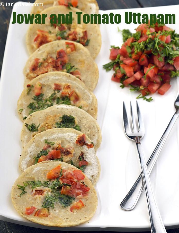 Jowar and Tomato Uttapam, Healthy Snack