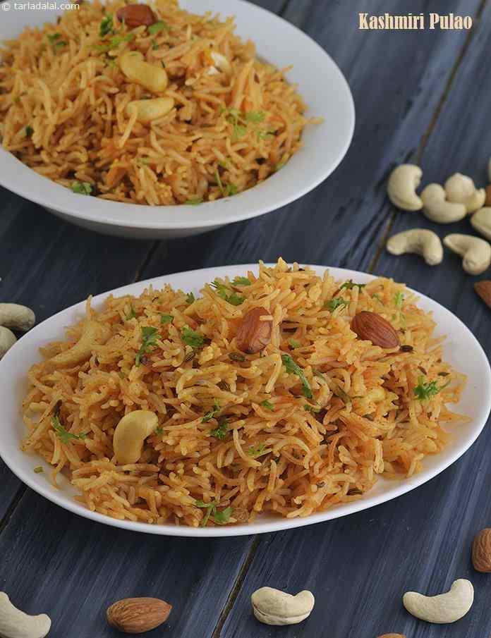 Kashmiri Pulao, Veg Pulav with Mixed Nuts