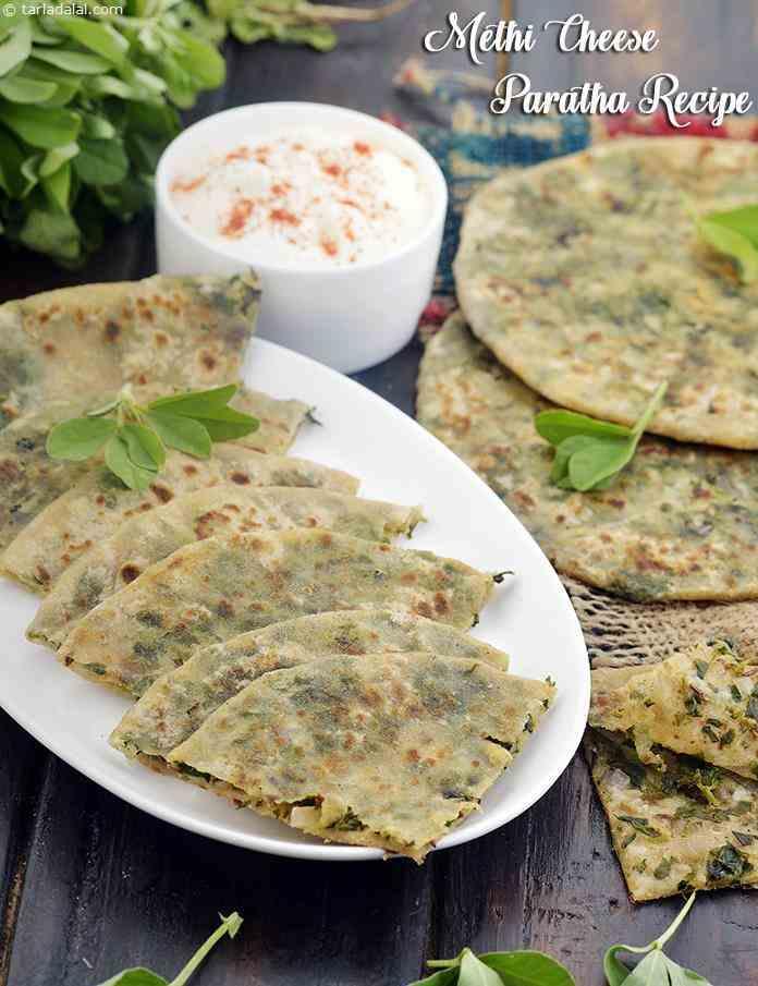 Methi Cheese Paratha Recipe