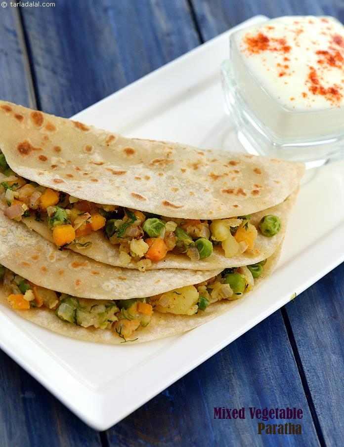 Mixed Vegetable Paratha (  Rotis and Subzis)