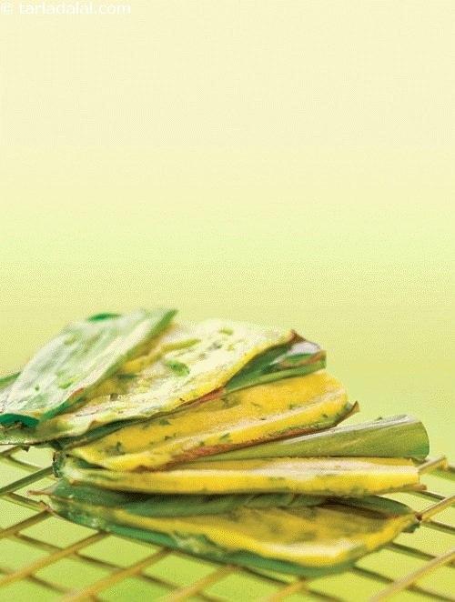 Moong Dal Panki ( Non- Fried Snacks )