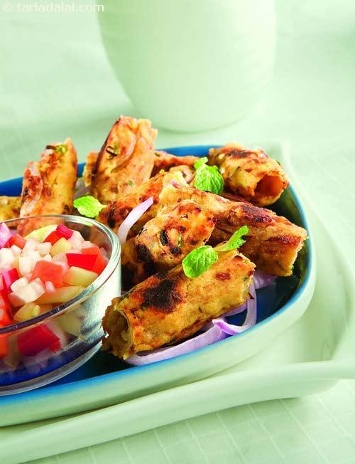 Moong Dal Seekh Kebab