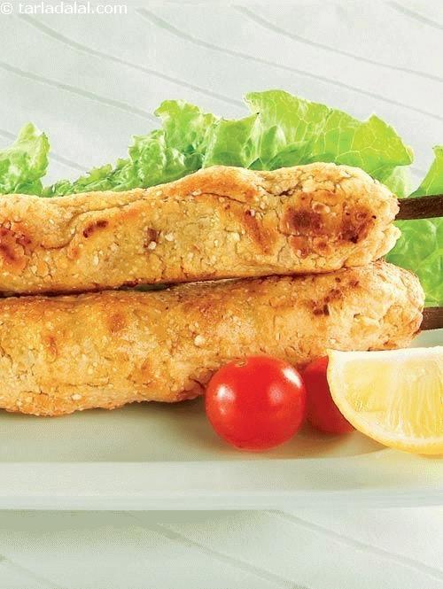 Paneer Chana Seekh Kebab ( Paneer Snacks )