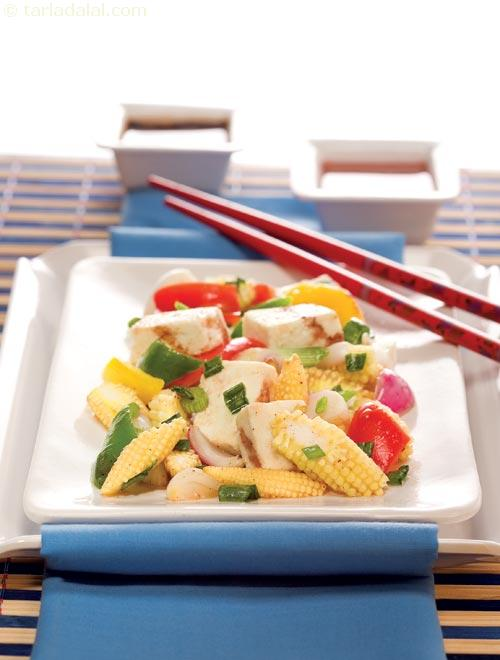 Paneer and Baby Corn Stir- Fry ( Chinese Cooking )