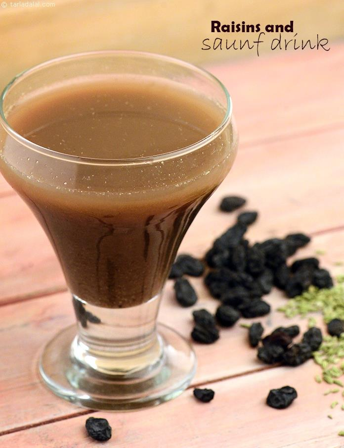 Raisins and Saunf Drink, this sweet preparation is sure to tantalize your taste buds and give you a pimple free smooth skin too. Consuming this drink regularly even after pimples disappear, will help you to gain a glowing complexion.