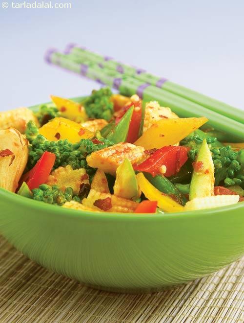 Schezuan Style Stir-fried Vegetables ( Diabetic Recipe )