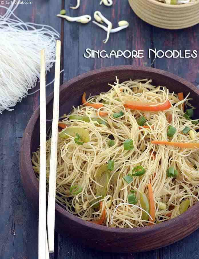 Singapore Noodles ( Microwave Recipes)