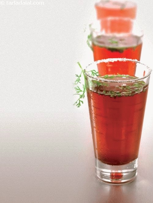 Spicy Kokum Drink cool and refreshing.