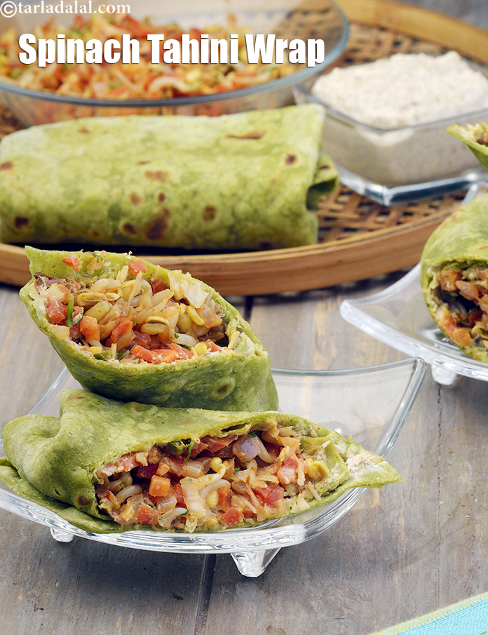 Spinach Tahini Wraps ( Nutritious Recipe for Pregnancy)