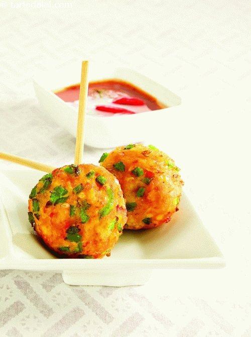 Sweet Corn Balls ( Kebabs and Tikkis Recipes)