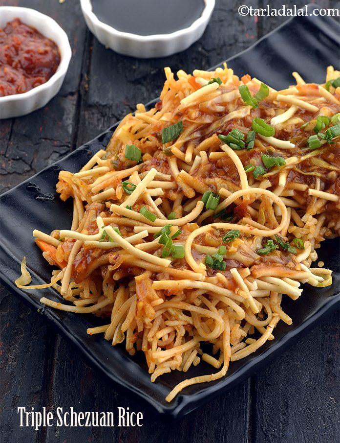Triple Schezuan Rice ( Mumbai Roadside Recipes )