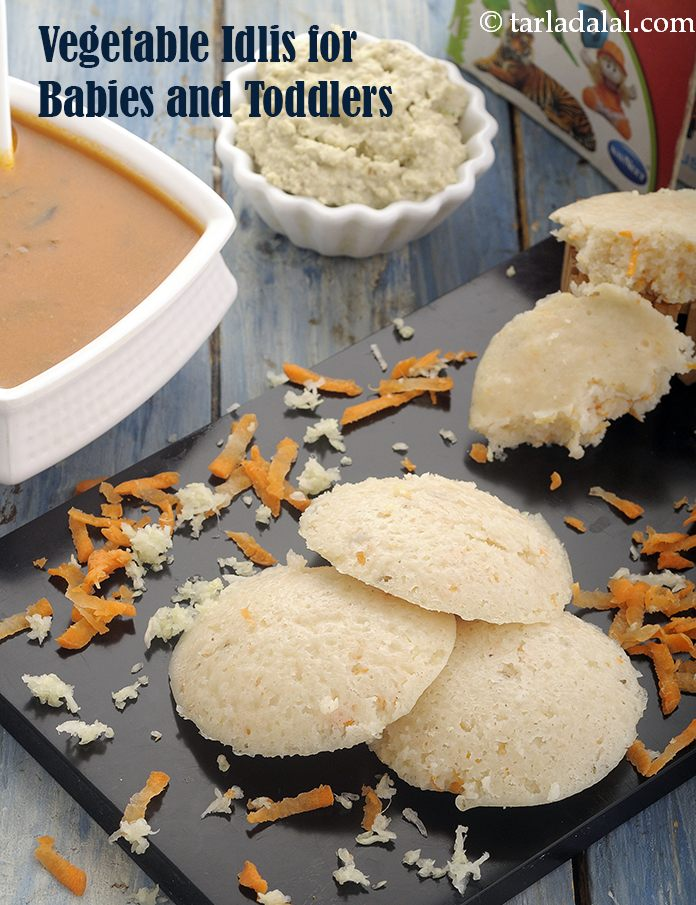 Vegetable Idli for Babies and Toddlers